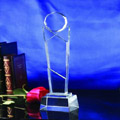 Crystal Trophies, Crystal Awards, Laser Engraved Crystal Trophies